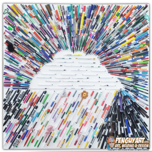 Costas_Schuler_Pen_Guy_Art_Recycle_Pen_Art_All_Kinds_of_Rain